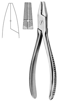 "Flat Nose Pliers 7"" w/end and side grooves"